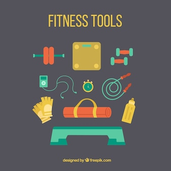 Farbe fitness-tools sammlung