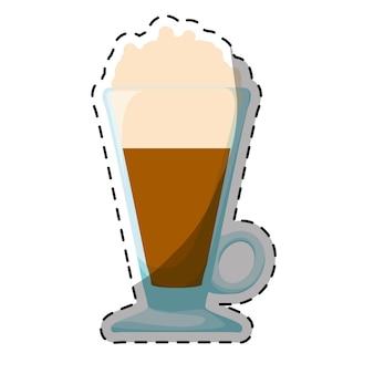 Farbe frappe glas icon-design