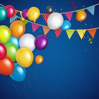 Farbe glänzend alles gute zum geburtstag luftballons