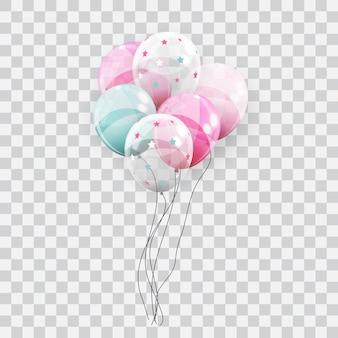 Farbe glänzende luftballons