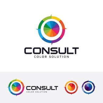 Farbe konsultieren vektor-logo-vorlage