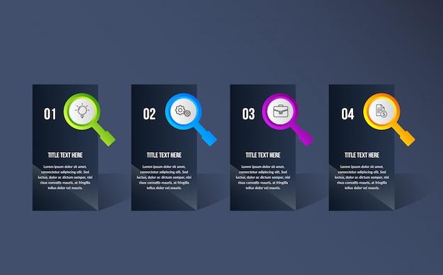 Farbe moderne infografik