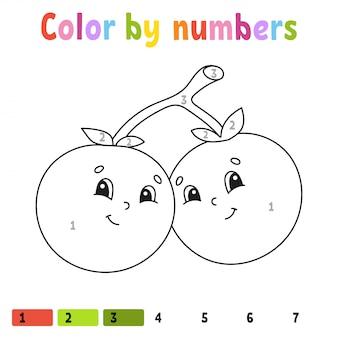 Farbe nach zahlen. malbuch für kinder. illustration.