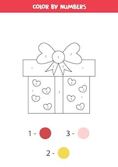 Farbe niedliches karikatur-valentinsgrußgeschenk durch zahlen