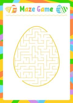 Farbe ovales labyrinth. kinderarbeitsblätter. aktivitätsseite. spielrätsel für kinder.