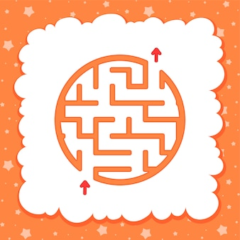 Farbe rundes einfaches labyrinth. kinderarbeitsblätter. aktivitätsseite.