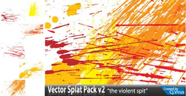 Farbe splatter free vector