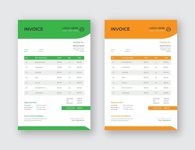 Farbe voll rechnung modernes business design eps