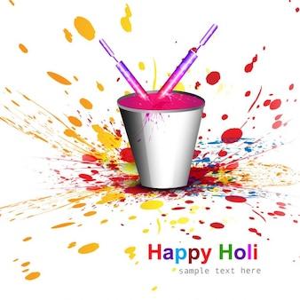 Farbeimer für holi festival