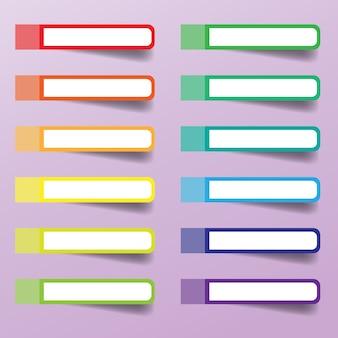 Farben eingestellt von den klebrigen anmerkungen lokalisiert