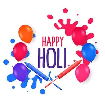 Farben spritzen ballons für ein happy holi festival