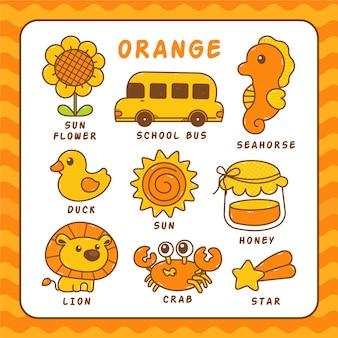 Farben und vokabeln in englisch
