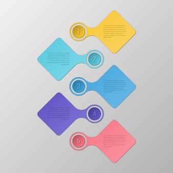 Farbenfrohe infografik