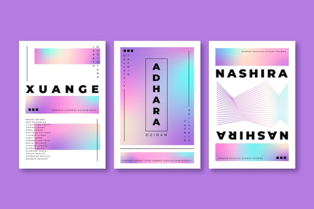 Farbenfrohe pastelltöne mit farbverlauf decken das design ab