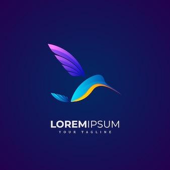 Farbenfrohes vogel-logo