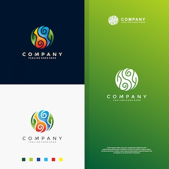 Farbenfrohes yin yang logo