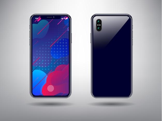Farbenreicher abstrakter hintergrund für smartphone-vorlage