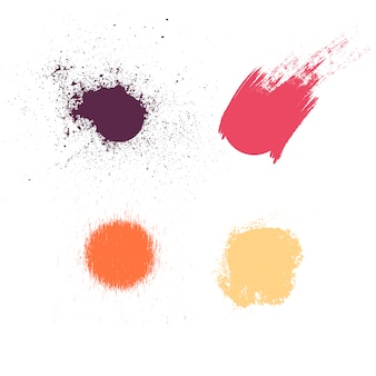 Farbflecken sammlung
