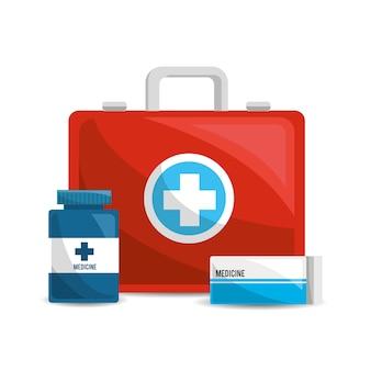 Farbgesundheitswesen, pharmazeutische drogen und medikationen