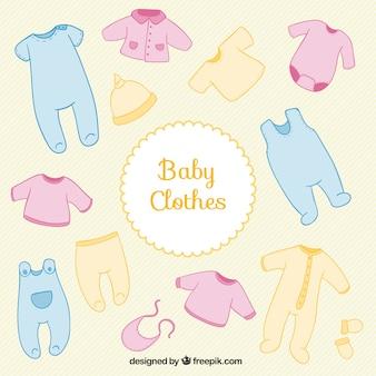 Farbige babypartykleidung