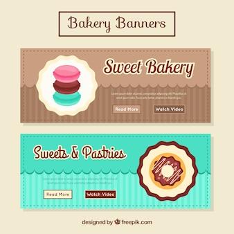 Farbige bäckerei banner
