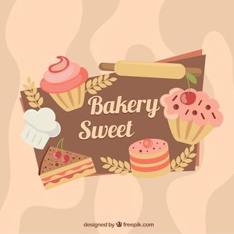 Farbige bäckerei hintergrund