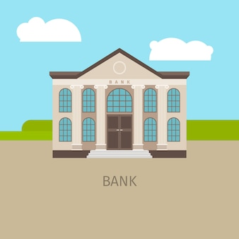 Farbige bankgebäudeillustration