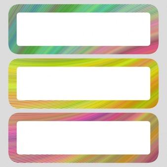 Farbige banner-sammlung