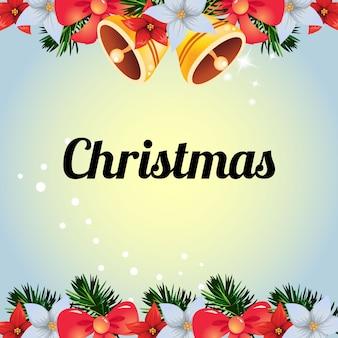 Farbige bunte weihnachtsglockendekoration