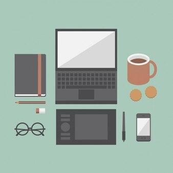 Farbige design workspace