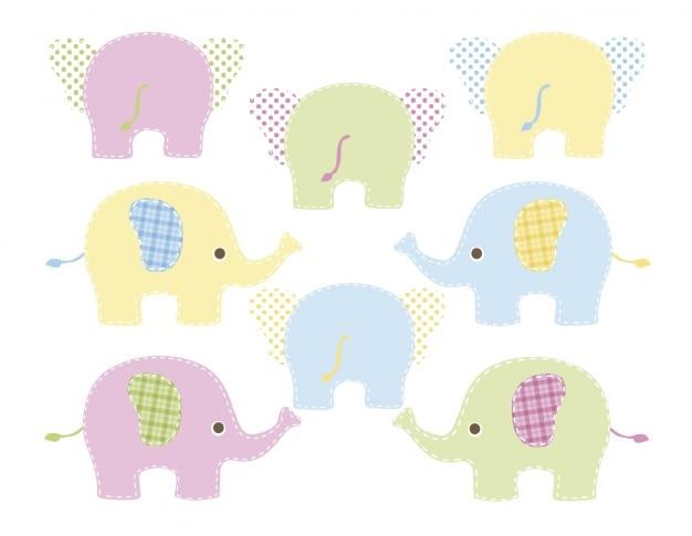 Farbige elefanten