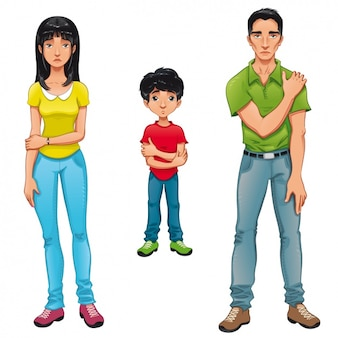 Farbige familienmitglieder