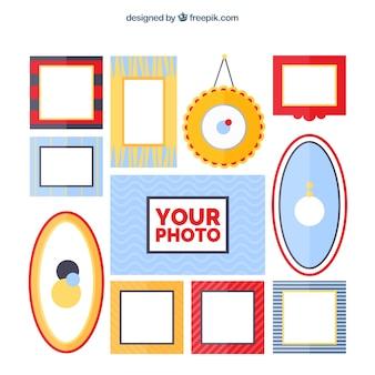 Farbige fotosammlung für fotos