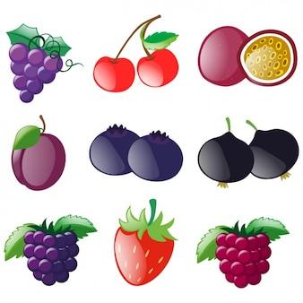 Farbige früchte sammlung