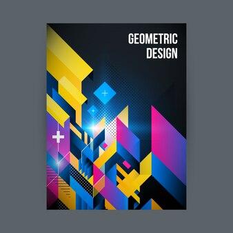 Farbige geometrische design