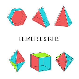 Farbige geometrische formen