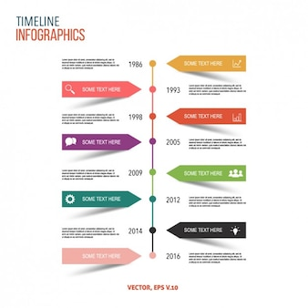 Farbige infografik-design