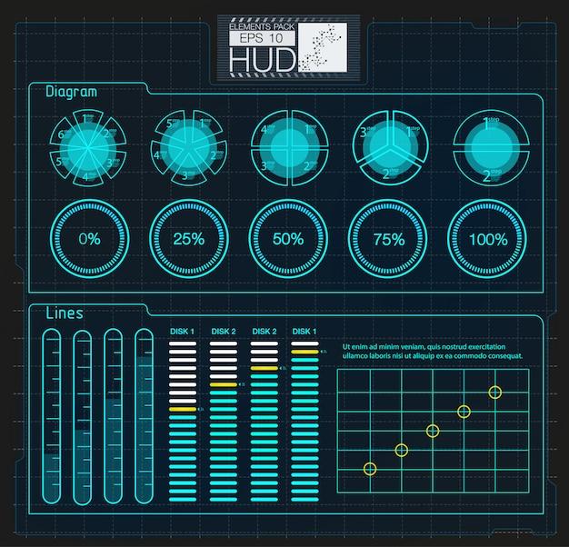 Farbige infographic digitale abbildung. kreative infografik des dashboard-themas
