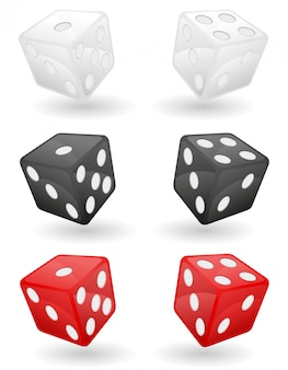Farbige kasinowürfel-vektorillustration