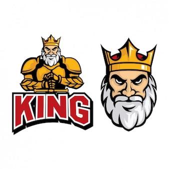 Farbige könig logo-design