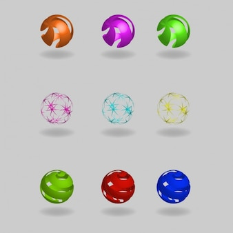Farbige kugeln sammlung