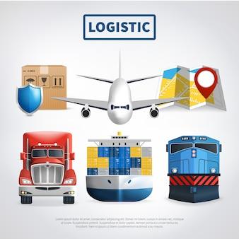 Farbige logistikvorlage