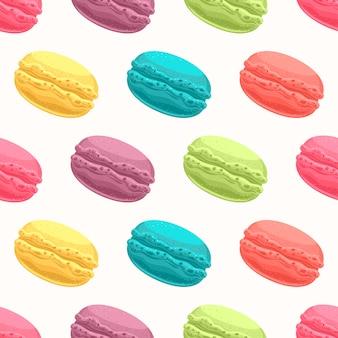 Farbige makronen
