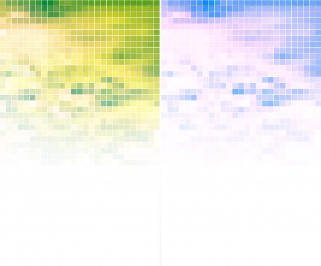 Farbige mosaik-banner