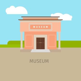Farbige museumsgebäudeillustration