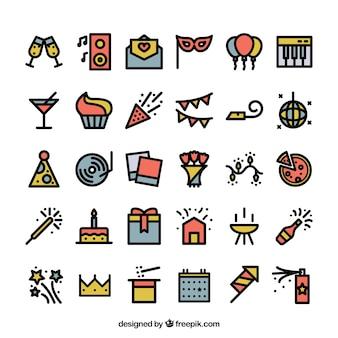 Farbige partei symbole