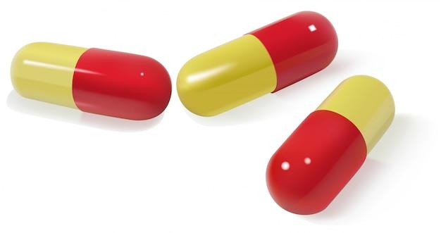 Farbige pillenkapseln