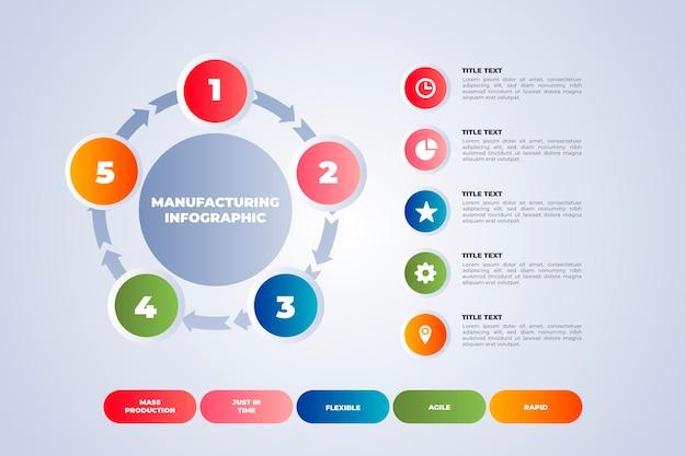 Farbige punkte und textherstellung infografik vorlage