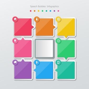 Farbige quadrate und ein grau
