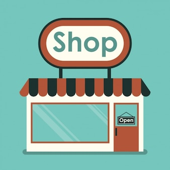 Farbige shop-design